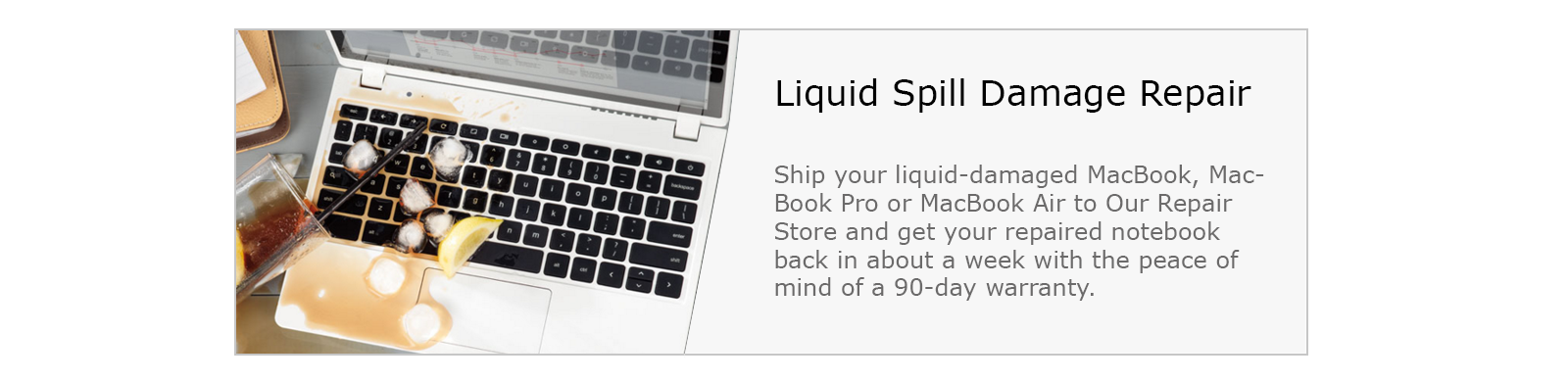 mac liquid spill damage repair